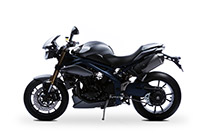 Triumph Speed Triple - matt graphite/blue stripes